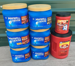 LOT OF EMPTY Plastic Coffee Cans CONTAINERS Craft STORAGE canisters - £3.85 GBP+