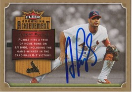 Albert Pujols Signed Autographed 2007 Fleer Achievement Card - St. Louis... - $49.99