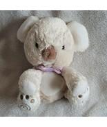 "Carters Child of Mine Koala Bear Plush Cream Stuffed 6"" Teddy Purple Bow... - $29.20"