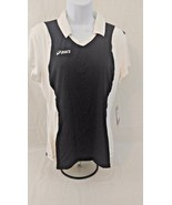 ASICS Women's Attacker Cap Sleeve Top Size-Large Black/White NEW  (B1) - $14.26