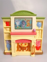 Fisher Price toy Loving Family Fireplace Television TV sound Music Lights - $29.77