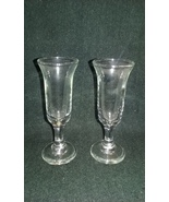 RARE Pair of Antique Glass Vases...early 1900's   (4250.2) - $8.00