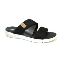 Timberland Women's Wilesport Black Leather Slip On Sandals A2AH7 - $49.99