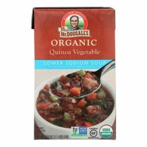 Dr. Mcdougall's Organic Quinoa Vegetable Lower Sodium Soup - Case Of 6 -... - $36.97