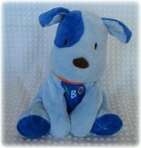 Carters Child of Mine Blue Spot Puppy Dog Plush Floppy Baby Lovey ABC Free Ship - $12.86