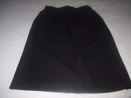 Talbots Ladies Black 100% Wool Straight Lined KNEE-LENGTH SKIRT-6-BARELY Worn - $9.99