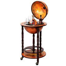 "36"" Wood Globe Wine Bar Stand 16th Century Italian Rack Liquor Bottle Sh... - $128.33"