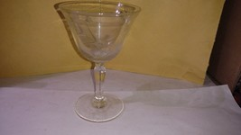 """4"""" Clear Glass Etched Wheat Cordial Glass - $4.50"""