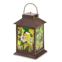 Solar-powered Floral Lantern 10038682 - $31.36