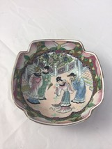Vintage Chinese Export Art Pottery Bowl Mid Century Modern Dish - $95.00