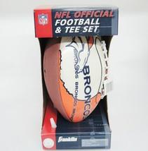 Franklin Denver Broncos Logo NFL Official Football & Tee Set NIB Orange & Blue - $34.64