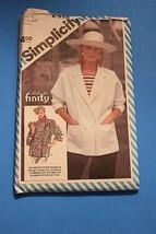 VTG Simplicity Sewing Patterns 6318 Ricki for Finity Designer Jacket Siz... - $11.63