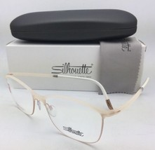 New SILHOUETTE Eyeglasses SPX 1575 20 6056 53-16 135 Matte Ivory and Gol... - $299.95