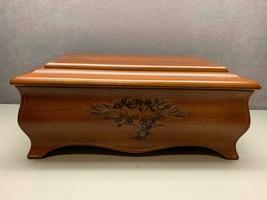 The Bombay Company Wood Flower Bouquet Wood Jewelry Box Model 128 - $29.69