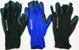 Wells Lamont 5 Pack Mens Foam Latex Work Gloves Medium Blue and Black image 2