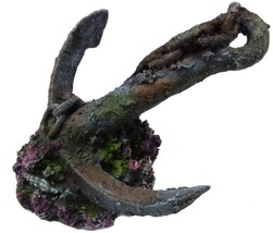 Anchor on Rock Aquarium Ornament, Perfect for any fish tank or vivarium - €12,71 EUR