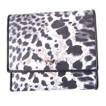 L-2986130  New Saint Laurent Black & White Animal Print Bi-Fold Wallet P... - $179.99