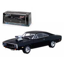 Doms 1970 Dodge Charger Black The Fast and The Furious Movie (2001) 1/43... - $28.71