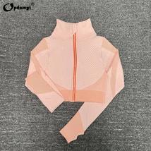 Women's New Crop Tops Leggings Seamless Sportswear High Waist Yoga Suit image 7
