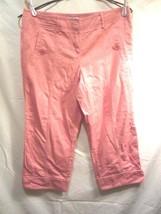 Ann Taylor Loft Capri pants NWOT cuff leg Salmon color Size 6 women's - $17.64