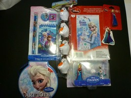 Disney Frozen 7 Piece Lot - Art Tote, Keychains, Study Set and More - $12.86