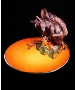 Vintage squirrel dish - P& E - P Ipsens pottery - retro Denmark trinket ... - $145.00