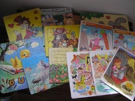 Vintage Lot of Kids Nursery Rhymes Playskool Sta-N-Place Furry Animal Sq... - $23.01