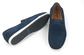 New Alfani Navy Suede Slip On Driver Mocc ASIN S Sawyer Loafers Shoes 12 - $24.74