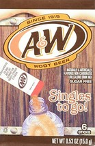 A&W Root Beer Drink Mix Singles to Go 6 Boxes 6 Packets Each - $17.62