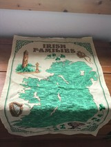 Gently Used Linen Union IRISH Families Yellow & Green Kitchen Towel Wall... - $10.39