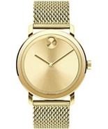 Movado Bold Gold Dial Gold-tone Mesh Dress Stainless Steel Men's Watch 3... - $321.74