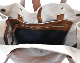 Women's Leather Boho Chic Purse Studded Expandable Lined Transport Tote Handbag image 12