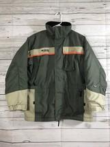 Columbia Boys Tectonite Ski Snowboard Jacket Army Green Tan Orange Size ... - $32.33