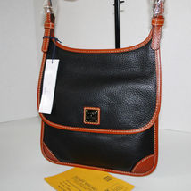 Dooney & Bourke Pebble Leather Black Saddle Crossbody image 3