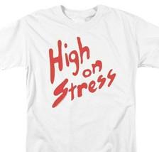 Revenge of Nerds T-shirt High Stress retro 80's movie graphic printed white tee image 2