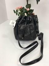 Coach Crossbody Bag Audrey Drawstring Bucket Metallic Black Leather 4539... - $98.95