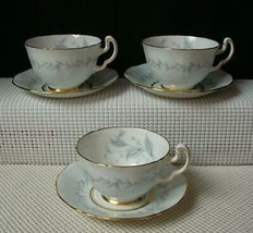 Lot of 3 MORNING MIST Tea Cups & Saucers by NORTHUMBRIA Hand Painted Eng... - $28.85