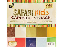 DCWV Safari Kids Cardstock Stack, 8x8 Inches, 48 Sheets #PS-006-00061