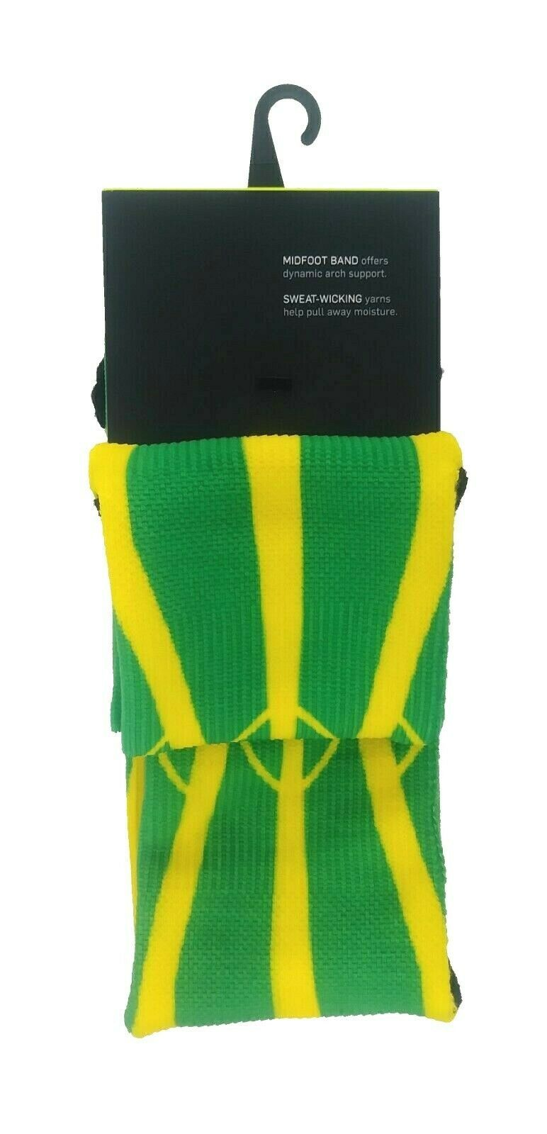 NIKE Dri-Fit Performance Oregon Ducks Socks sz L Large (8-12) Green