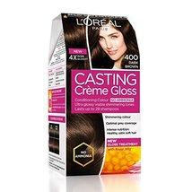 L'Oreal Paris Casting Creme Gloss, Dark Brown 400, 87.5g+72ml - $19.81