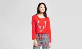 Juniors Wondershop Reindeer Lady Doe Fair Isle Holiday Sleepshirt Red Si... - $3.99