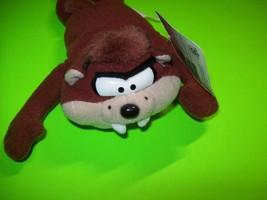 Tasmanian Devil Bean Bag Toy Warner Bros Looney Tunes Beanie 1997 Taz With Tags - $12.53