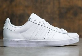 NEW IN BOX Adidas Superstar VULC ADV Shoes in White & Silver M 4.5 W 6 - $48.51