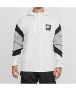 Nike Air Sportswear Mens Fleece Hoodie Light Grey Full Zip CD9222-051 Si... - $51.48