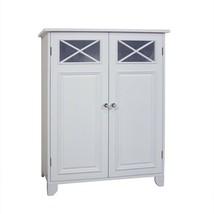 White Wooden Linen Storage Floor Cabinet 3 Tier Bathroom Organizer Towel... - $135.53