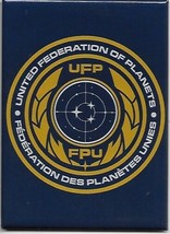 Star Trek Discovery TV United Federation of Planets Logo Refrigerator Ma... - $3.99