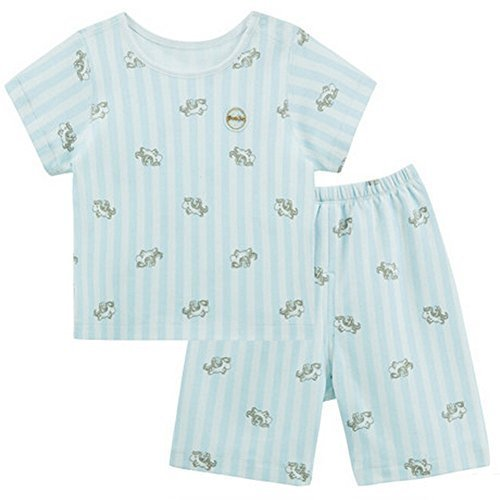BLUE Infant Short Slevees&Shorts 2 Pieces Baby Toddler Underwear Set 6-9M