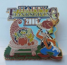 Disney Collectible Pin, Happy Thanksgiving 2006 - Goofy, WDW Fall Holiday Theme - $19.88