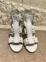 Steve Madden Ladies White Leather Block Heel Sandals EU 40 UK 7 US 9 - $74.75