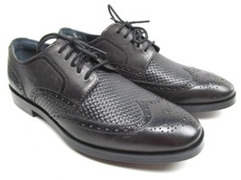 Cole Haan Grand OS Wingtip Basket weave Mens Oxford Shoes Size 8 W  EUC  - $26.19